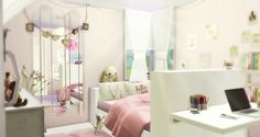 Caeley Sims: Girly Room • Sims 4 Downloads