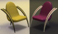 Mod The Sims: Futureshock Chair Conversion Recolored by lexiconluthor • Sims 4 Downloads