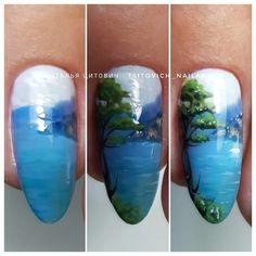 Nail Designs, Girly, Nail Art, Nails, Drawings, Landscapes, Hairstyle, French, Nail Arts