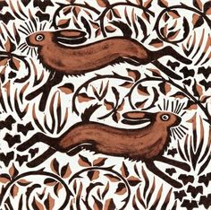 Bramble Hares, 2001 (woodcut) by Nat Morley on The Bazaar. Buy creative products by Nat Morley online! Bramble, Painting Prints, Canvas Prints, Art Prints, Giraffe Painting, Bunny Painting, Framed Prints, Framed Wall, Wall Mural