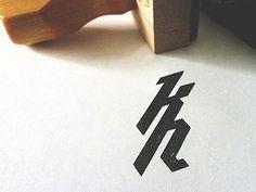 kh stamp #ligatures #typography #logo