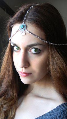 CHAIN HEADPIECE Head Chain, Vintage Head chain, headdress gypsy head piece . op Etsy, $25.00