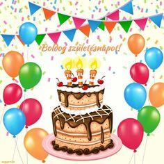 Boldog születésnapot! (gif animált képeslap) - Megaport Media Share Pictures, Animated Gifs, Name Day, Birthday Cake, Halloween, Desserts, Board, Tailgate Desserts, Deserts