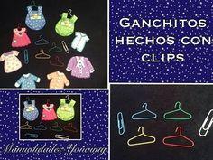 GANCHITOS PARA ROPA DE BARBIES O DISTINTIVOS DE BABY SHOWER . - YouTube