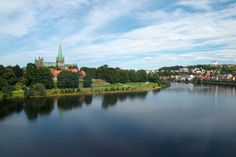Picture of River Nidelva and Nidaros Cathedral, Norway