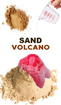 Volcano Experiment Wow the kids this summer and make a sand volcano! A Fun science experiment for kids.Wow the kids this summer and make a sand volcano! A Fun science experiment for kids.