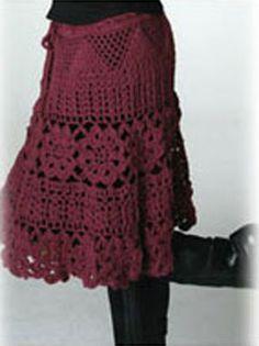 Graficos y Crochet: Falda en tinto free pattern