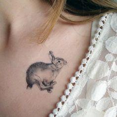 Fox Rabbit Temporary Tattoos