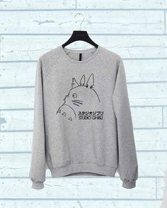 Studio Ghibli Totoro sweater Sweatshirt Crewneck Men by tamsis02