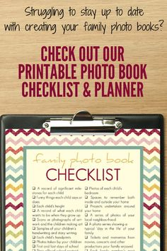 Having a hard time keeping up with your family photo books? Check out these free printables to keep you on track