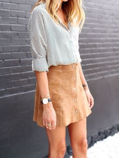 button front suede skirt - cheap womens watches, online shopping watches for womens, womens watches sale