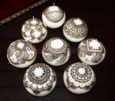 Henna candles by Joy of Henna by Joy of Henna, via Flickr                                                                                                                                                     More