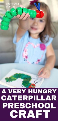 Make this easy caterpillar craft based on Eric Carle's The Very Hungry Caterpillar with preschoolers. It's the perfect craft to do on a caterpillar themed unit. Kindergarten Art Activities, Toddler Activities, Preschool Activities, Preschool Books, Hungry Caterpillar Activities, Very Hungry Caterpillar, Toddler Crafts, Crafts For Kids, Bug Crafts
