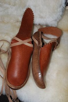 handmade bocskor shoes from the south of Hungary