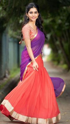 Nabha natesh the new talent in Tollywood Blue Satin, Silk Satin, Young Actresses, Girls Gallery, Indian Models, Beautiful Girl Photo, Traditional Looks, Half Saree, Hottest Photos