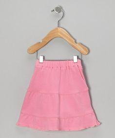Look at this #zulilyfind! Pink Organic Tiered Skirt - Infant & Toddler by Sage Creek Organics #zulilyfinds