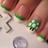 Mario mushroom gamer manicure. really want to try this!