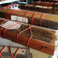 More than volumes of palm leaf manuscripts belonging to Sode Vadiraja Mutt of Udupi, which are between two and three centuries old, are in the process of being digitised. Book Journal, Journals, Bookbinding Supplies, Buddhist Texts, Leaf Book, Book Of Hours, Handmade Books, Inspirational Books, Old Books
