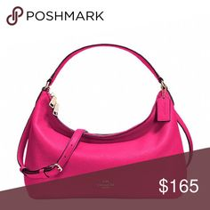 """Coach Small East/West Celeste Convertible Hobo Pebble leather Inside zip, cell phone and multifunction pockets Zip-top closure, fabric lining Handles with 8 1/2"""" drop Longer strap with 20"""" drop for shoulder or crossbody wear 14 1/4"""" (L) x 5"""" (H) x 5"""" (W) Coach Bags Hobos"""
