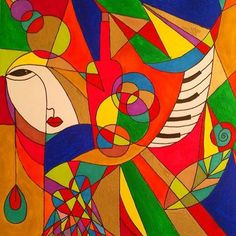 Cubism #cubism #art #artwork #artist #painting#colors#färg #akryl #konst#creative #artgallery