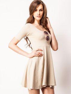 FEMELLA Skater Dress With Round Neckline by koovs.com