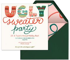 Day 20: Host an Ugly Sweater Party with this adorable premium invitation from Evite. #31DaysofParty