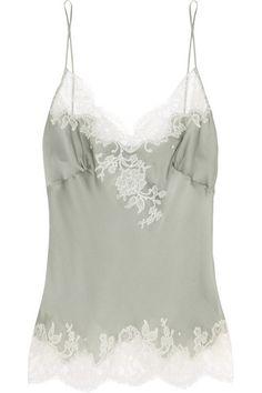Carine Gilson Lace Trimmed Silk Robe