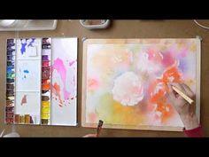 ぼかしの水彩 バラを描く(Second stage) - YouTube