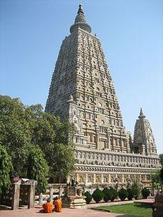 Conjunto de templos de Mahabodhi en Bodhgaya Bihar India.