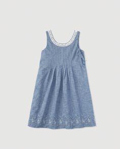 Vestido de niña Polo Ralph Lauren azul con bordados