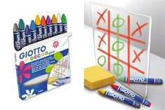 Boîte de 10 crayons-cire pour vitres (potentiellement pour tableau en verre).