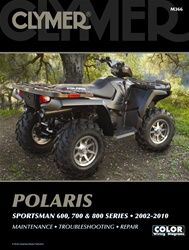 Polaris Sportsman Manual  600, 700 and 800 Service and Repair Information -  The Polaris Sportsman service manual covers Polaris Sportsman ATV's for these years:Sportsman 600 (2003, 2004, 2005), Sportsman 700 (2002, 2003, 2004, 2005, 2006),    Sportsman 700 EFI (2004, 2005, 2006, 2007),Sportsman 700 EFI X2 (2008),    Sportsman MV7 (2005, 2006),    Sportsman 800 EFI (2005, 2006, 2007, 2008, 2009, 2010),Sportsman 800 EFI X2 (2007, 2008, 2009),Sportsman 800 EFI Touring (2008, 2009)