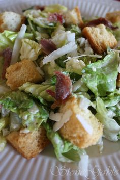 StoneGable: StoneGable Caesar Salad- Note to self: use only cup lemon juice. Best Salad Recipes, Salad Dressing Recipes, Healthy Recipes, Salad Dressings, Yummy Recipes, Copycat Recipes, Healthy Eats, Recipies, Dinner Recipes