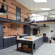 When old barn turns into modern and eco friendly home #brick #wall #decor #loft #design #black