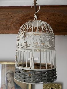Hey, I found this really awesome Etsy listing at https://www.etsy.com/listing/193249067/vintage-french-toleware-romantic-bird