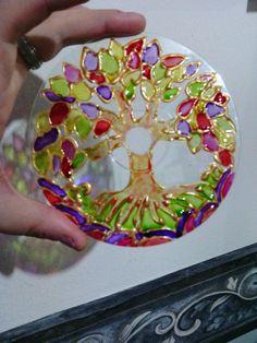 Mandalas con cd reciclado                                                                                                                                                                                 Más