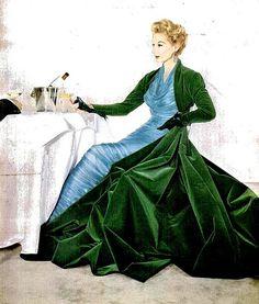 Lisa Fonssagrives-Penn in Modess ad, photo by Irving Penn, 1954