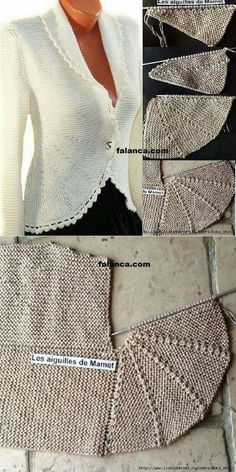 Hand-knitted cardigan like - . Hand knitted cardigan like - Always wanted to learn to knit, h. Cardigan Gris, Cardigan En Maille, Knit Cardigan, Cardigans Crochet, Hand Knitted Sweaters, Knitting Sweaters, Crochet Stitches, Crochet Pattern, Knitting Patterns
