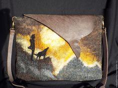 """Купить сумка валяная """"Странник"""" - рисунок, сумка с рисунком, валяная сумка, сумка валяная, валяная"""