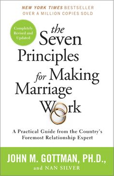 John Gottman's unprecedented study of couples over a period of years has allowed him to observe the habits that can make—and break—a marriage. Here is the culmination of that work: the seven principles that guide couples on a path toward a harmonious and long-lasting relationship. Straightforward yet profound, these principles teach partners new approaches for resolving conflicts, creating new common ground, and achieving greater levels of intimacy.