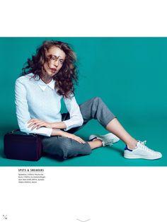 visual optimism; fashion editorials, shows, campaigns & more!: kontorstider: charlie bredal by anja poulsen for elle sweden november 2014