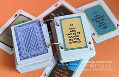 52 Reasons I Give Thanks for You #printables #deck of cards album #thanksgiving
