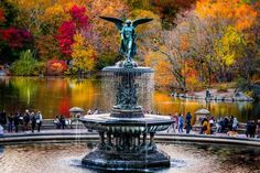 Bethesda Fountain Central Park by Gina Brake @nyc_ph0t0 by newyorkcityfeelings.com - The Best Photos and Videos of New York City including the Statue of Liberty Brooklyn Bridge Central Park Empire State Building Chrysler Building and other popular New York places and attractions.