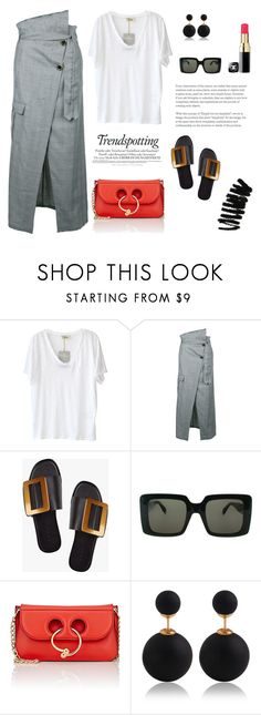 """""""Basics: White T-shirt"""" by erindream ❤ liked on Polyvore featuring Melissa, American Vintage, Each X Other, Boyy, CÉLINE, J.W. Anderson and Bobbi Brown Cosmetics"""