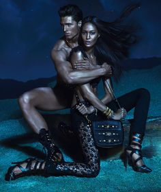Versace, Joan Smalls for its Spring 2013 Campaign