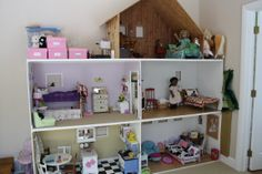 Designing & Building an American Girl Doll House  Each room is 4 feet by 2 feet by 28 inches high
