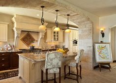 Mediterranean Kitchen Backsplash Kitchen Design Ideas, Pictures, Remodel and Decor