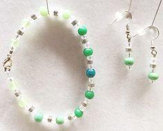 Green Jade Earrings Jade Bracelet Jade Earrings Green Bead