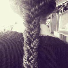 Fishtail braided fishtail
