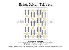 #smallspacesunday Brick Stitch from August 23 whimsicalstitch.com/whimsicalwednesdays blog post.